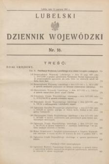 Lubelski Dziennik Wojewódzki. [R.12], nr 16 (13 czerwca 1931)