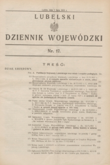 Lubelski Dziennik Wojewódzki. [R.12], nr 17 (1 lipca 1931)