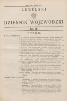 Lubelski Dziennik Wojewódzki. [R.12], nr 19 (1 sierpnia 1931)