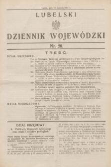 Lubelski Dziennik Wojewódzki. [R.12], nr 20 (14 sierpnia 1931)