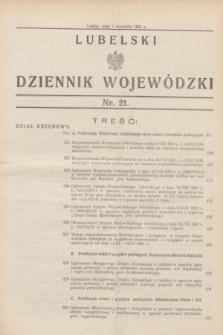 Lubelski Dziennik Wojewódzki. [R.12], nr 21 (1 września 1931)