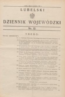 Lubelski Dziennik Wojewódzki. [R.12], nr 22 (15 września 1931)