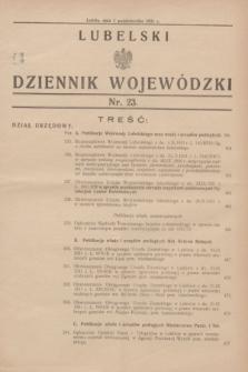 Lubelski Dziennik Wojewódzki. [R.12], nr 23 (1 października 1931)