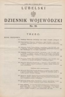 Lubelski Dziennik Wojewódzki. [R.12], nr 26 (14 listopada 1931)