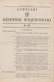 Lubelski Dziennik Wojewódzki. [R.12], nr 28 (16 grudnia 1931)