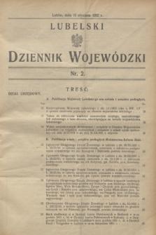 Lubelski Dziennik Wojewódzki. [R.13], nr 2 (15 stycznia 1932) + wkładka