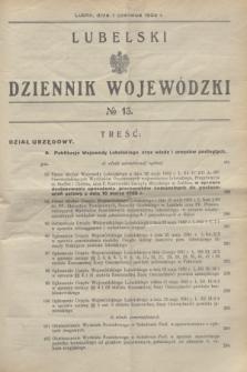 Lubelski Dziennik Wojewódzki. [R.13], nr 13 (1 czerwca 1932)