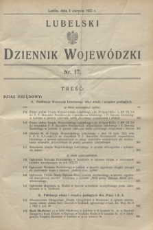 Lubelski Dziennik Wojewódzki. [R.13], nr 17 (1 sierpnia 1932)