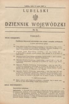 Lubelski Dziennik Wojewódzki. [R.18], nr 9 (15 maja 1937)