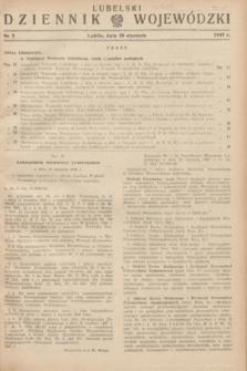 Lubelski Dziennik Wojewódzki. 1949, nr 3 (30 stycznia)
