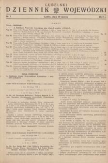 Lubelski Dziennik Wojewódzki. 1949, nr 7 (10 marca)