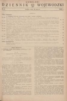Lubelski Dziennik Wojewódzki. 1949, nr 8 (20 marca)