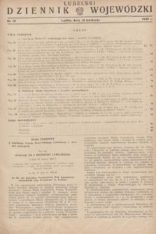Lubelski Dziennik Wojewódzki. 1949, nr 10 (10 kwietnia)