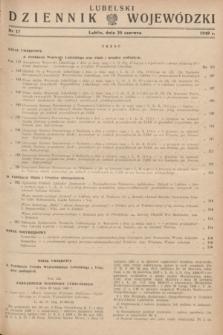 Lubelski Dziennik Wojewódzki. 1949, nr 17 (20 czerwca)