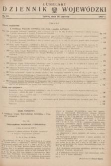Lubelski Dziennik Wojewódzki. 1949, nr 18 (30 czerwca)