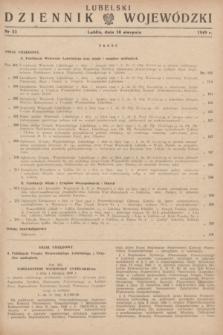 Lubelski Dziennik Wojewódzki. 1949, nr 22 (10 sierpnia)