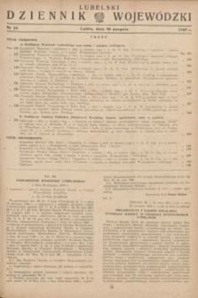 Lubelski Dziennik Wojewódzki. 1949, nr 24 (30 sierpnia)