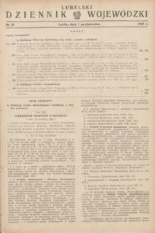 Lubelski Dziennik Wojewódzki. 1949, nr 27 (1 października)