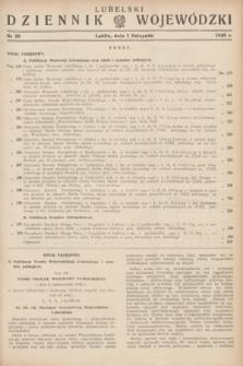 Lubelski Dziennik Wojewódzki. 1949, nr 29 (1 listopada)