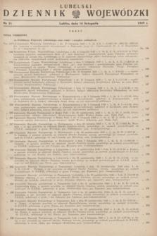 Lubelski Dziennik Wojewódzki. 1949, nr 31 (16 listopada)