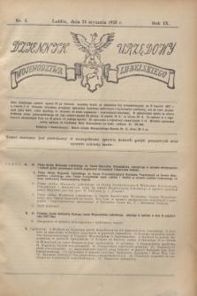Dziennik Urzędowy Województwa Lubelskiego. R.9, nr 3 (24 stycznia 1928)
