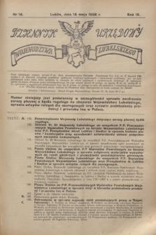 Dziennik Urzędowy Województwa Lubelskiego. R.9, nr 16 (16 maja 1928)