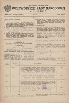 Dziennik Urzędowy Wojewódzkiej Rady Narodowej w Lublinie. 1958, nr 6 (10 lipca)