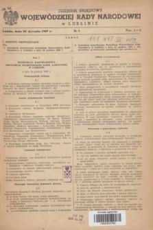 Dziennik Urzędowy Wojewódzkiej Rady Narodowej w Lublinie. 1959, nr 1 (20 stycznia)