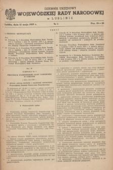 Dziennik Urzędowy Wojewódzkiej Rady Narodowej w Lublinie. 1959, nr 4 (12 maja)