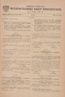 Dziennik Urzędowy Wojewódzkiej Rady Narodowej w Lublinie. 1959, nr 9 (23 grudnia)