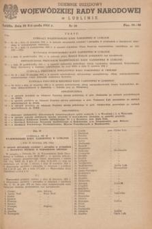 Dziennik Urzędowy Wojewódzkiej Rady Narodowej w Lublinie. 1961, nr 10 (30 listopada)