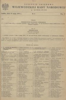 Dziennik Urzędowy Wojewódzkiej Rady Narodowej w Lublinie. 1978, nr 3 (18 maja)