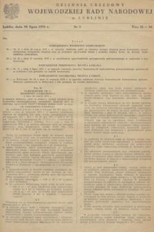 Dziennik Urzędowy Wojewódzkiej Rady Narodowej w Lublinie. 1978, nr 5 (20 lipca)