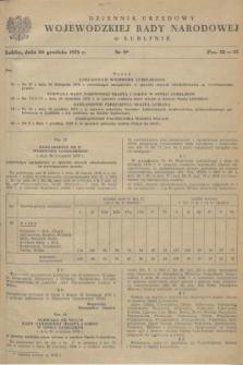Dziennik Urzędowy Wojewódzkiej Rady Narodowej w Lublinie. 1978, nr 9 (30 grudnia)