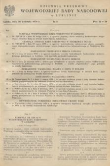 Dziennik Urzędowy Wojewódzkiej Rady Narodowej w Lublinie. 1979, nr 3 (30 kwietnia)