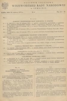 Dziennik Urzędowy Wojewódzkiej Rady Narodowej w Lublinie. 1979, nr 4 (12 czerwca)