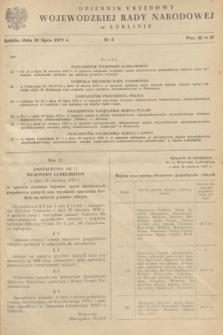 Dziennik Urzędowy Wojewódzkiej Rady Narodowej w Lublinie. 1979, nr 5 (31 lipca)