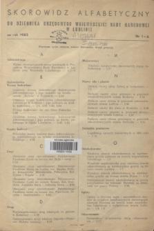 Dziennik Urzędowy Wojewódzkiej Rady Narodowej w Lublinie. 1983, Skorowidz alfabetyczny do Dziennika Urzędowego Wojewódzkiej Rady Narodowej w Lublinie za rok 1983