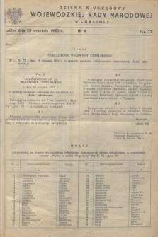 Dziennik Urzędowy Wojewódzkiej Rady Narodowej w Lublinie. 1983, nr 4 (20 września)