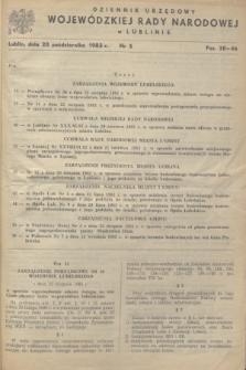 Dziennik Urzędowy Wojewódzkiej Rady Narodowej w Lublinie. 1983, nr 5 (20 października)