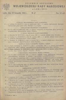 Dziennik Urzędowy Wojewódzkiej Rady Narodowej w Lublinie. 1983, nr 6 (29 listopada)