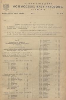 Dziennik Urzędowy Wojewódzkiej Rady Narodowej w Lublinie. 1984, nr 2 (20 marca)