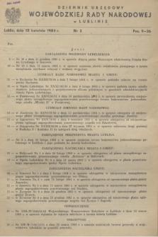 Dziennik Urzędowy Wojewódzkiej Rady Narodowej w Lublinie. 1984, nr 3 (10 kwietnia)