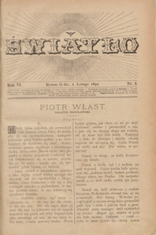 Światło. R.6, nr 3 (1 lutego 1892) + dod.