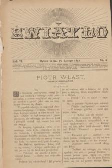 Światło. R.6, nr 4 (15 lutego 1892) + dod.
