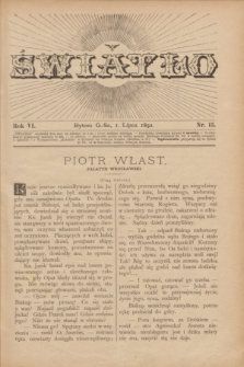 Światło. R.6, nr 13 (1 lipca 1892) + dod.