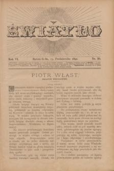 Światło. R.6, nr 20 (15 października 1892) + dod.