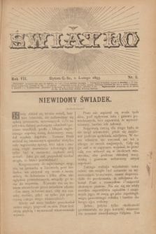 Światło. R.7, nr 3 (1 lutego 1893) + dod.