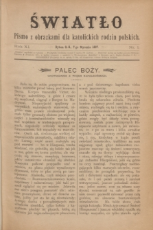 Światło : pismo z obrazkami dla katolickich rodzin polskich. R.11, nr 1 (7 stycznia 1897)