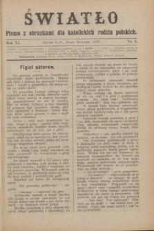 Światło : pismo z obrazkami dla katolickich rodzin polskich. R.11, nr 3 (21 stycznia 1897)
